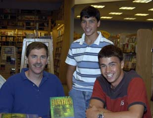 Dr. Benedict is pictured with his sons Luke and Chip at a  Borders book signing in Camp Hill, PA