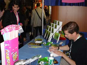 John Benedict MD signs copies of Adrenaline at the at the 2005 Book Expo of America in New York City, NY.