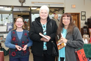 Fans with their signed copies of Fatal Complications